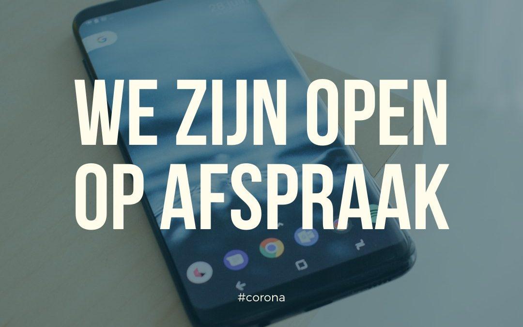 Wij zijn open! 👀